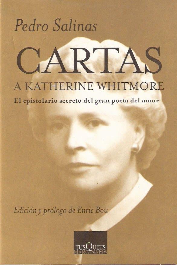 Cubierta de Cartas a Katherine Whitmore. Pedro Salinas