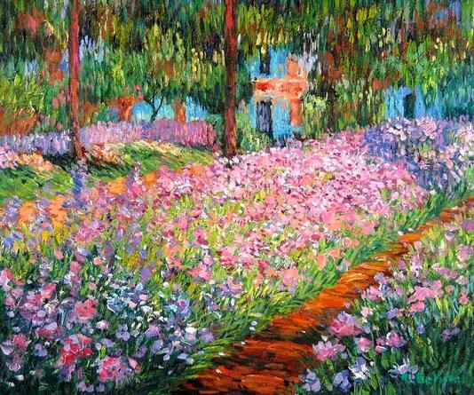 Lirios en el jardín (1900)