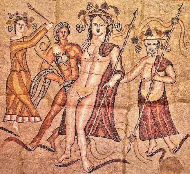 Mosaico del triclinio de la Casa de Baco