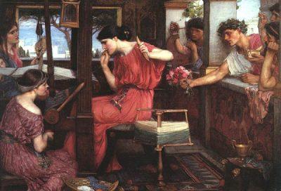 Penélope y los pretendientes (1912), John William Waterhouse