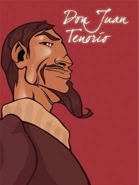 Cubierta de Don Juan Tenorio, José Zorrilla. Comic de Begoña Oro y Abraham Perez