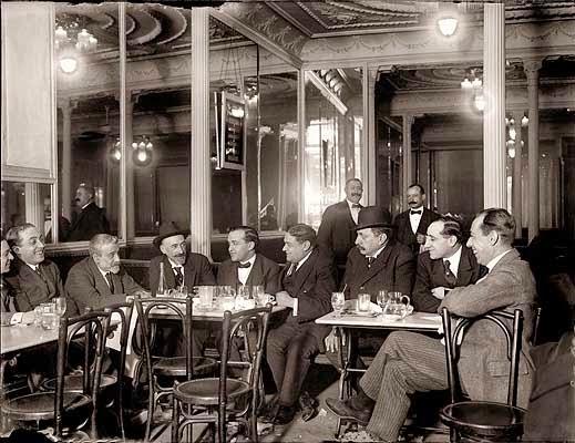 Tertulia de Benavente en el Café Lisboa, Madrid 1918