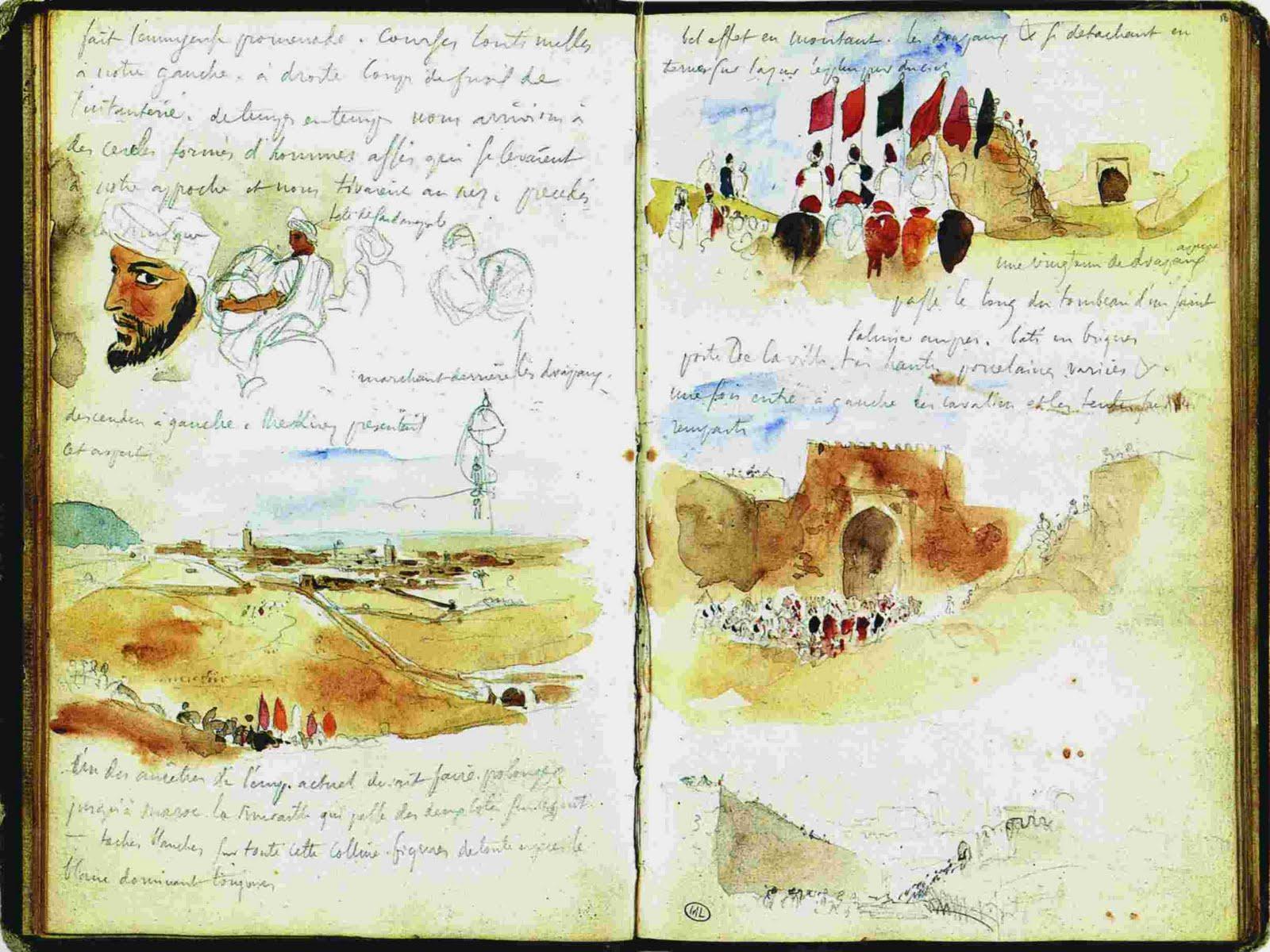 Cuaderno del viaje de Delacriox por Maruecos.