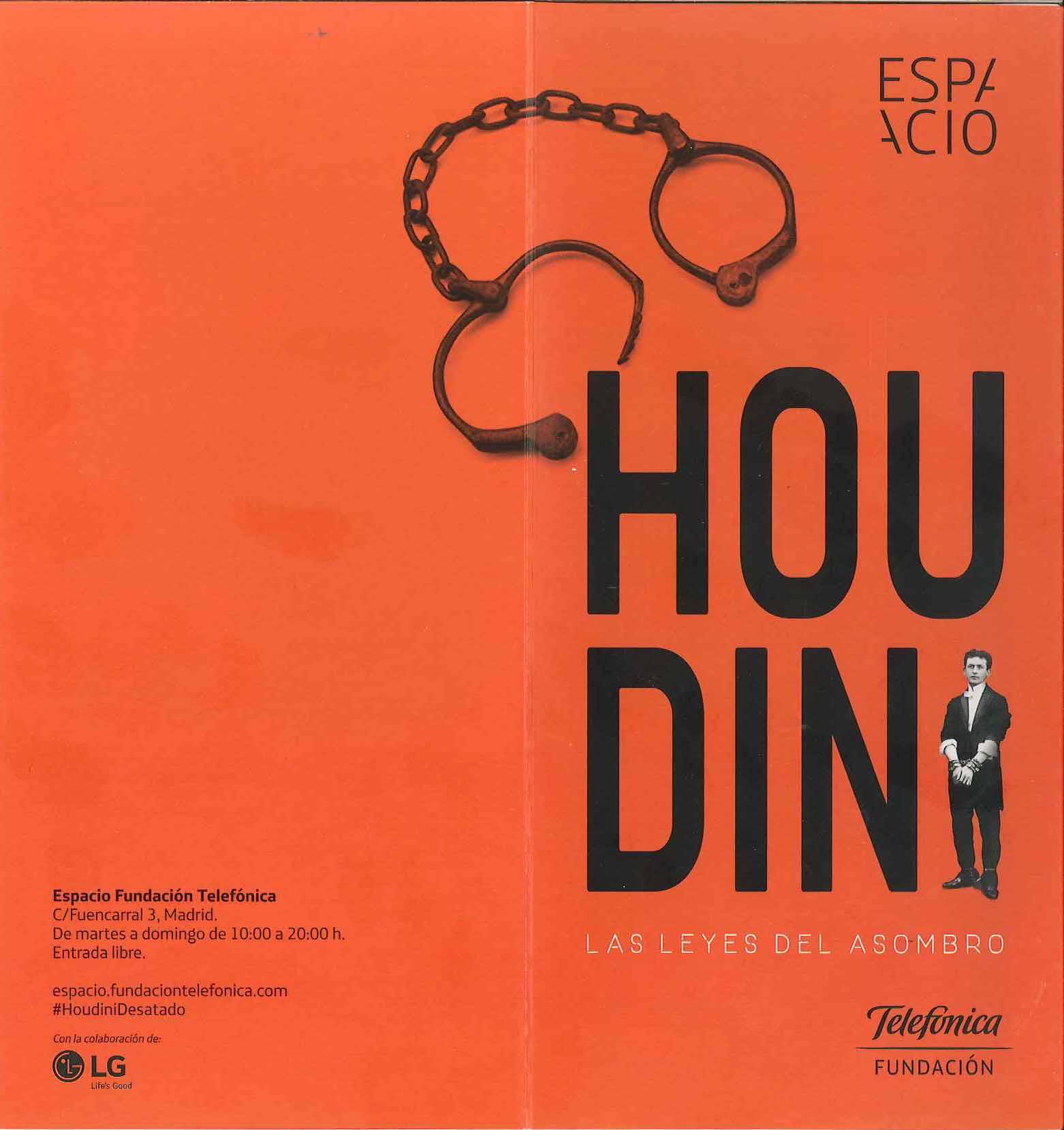 Cartel Exposición: Houdini. Las leyes del asombro