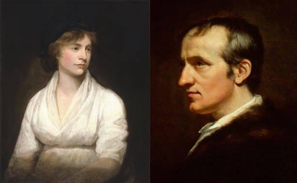 Retrato de Mary Wollstonecraft y William Godwin