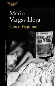 Cubierta de Cinco Esquinas, Mario Vargas Llosa