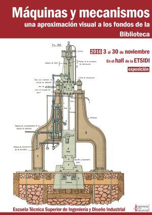 Cartel Exposición Máquinas y mecanismos ETSIDI