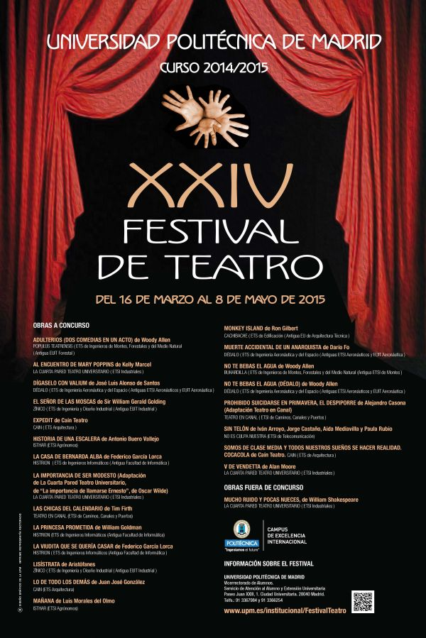 Cartel XXIV Festival de Teatro de la UPM