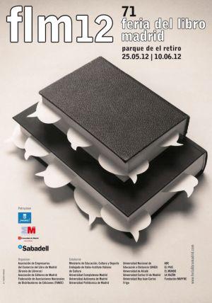 Cartel Feria del libro de Madrid 2012