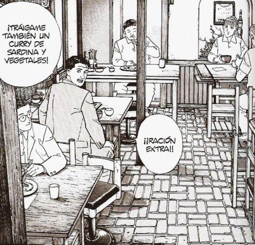 Viñeta de El gourmet solitario, Jiro Taniguchi y Masayuki Kusumi