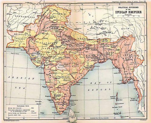 Mapa de la India