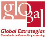 Logotipo de global estrategias. Consultoria de formación y elearning