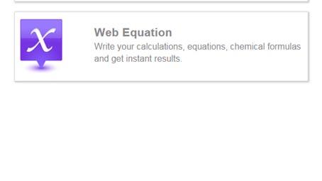 web equation