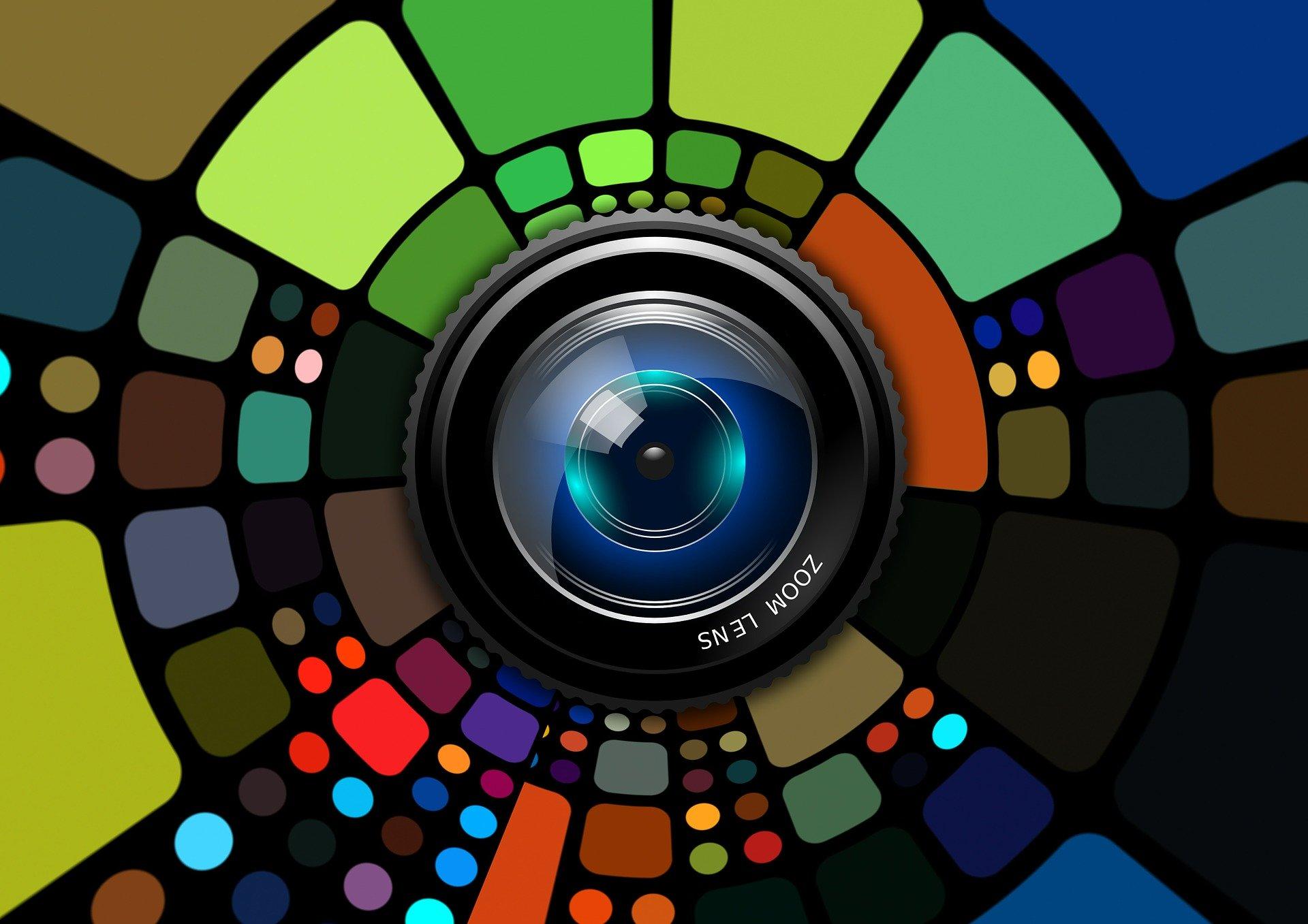 Imagen de una lente de cámara