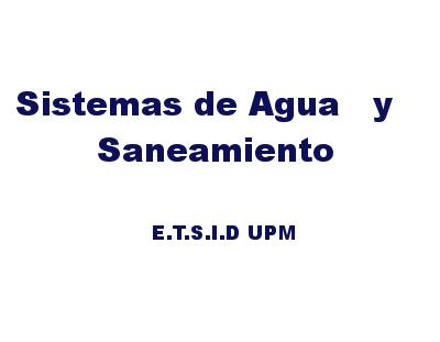 Grupo de cooperación Sistemas de Agua y Saneamiento
