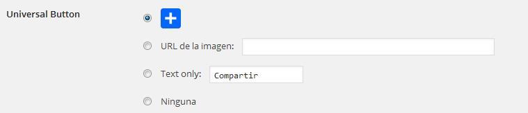 configuración botón universal