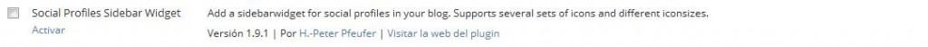 plugin widget social desactivado