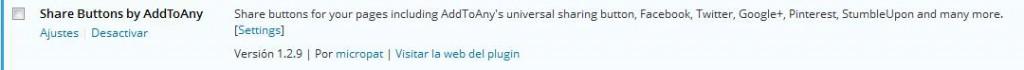 plugin addtoany activado