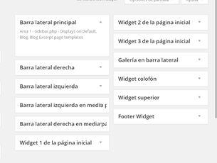 imagen de las diferentes secciones de widgets en responsive
