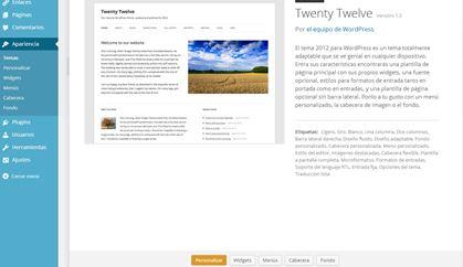 imagen principal tema twenty twelve