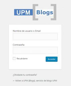 imagen del formulario de acceso a usuarios