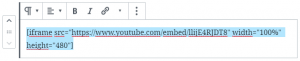 Código de vídeo