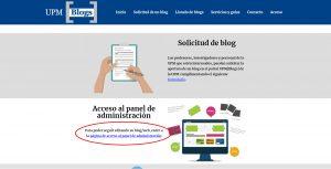 pantalla principal portal UPM[Blogs]